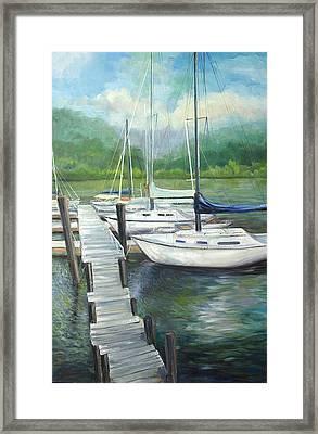 Dock Side Framed Print by Max Mckenzie