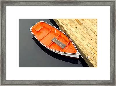 Docked Framed Print by Darren Fisher