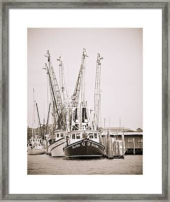 Docked Framed Print by Donni Mac