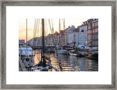 Docked For Dinner Framed Print by