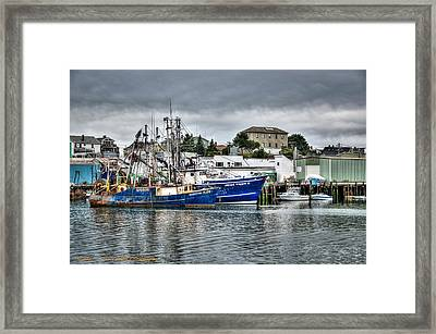 Docked For The Storms Framed Print by Dan Crosby