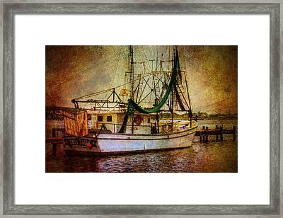 Docked In Backbay Framed Print