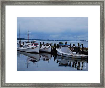 Framed Print featuring the photograph Docked by Linda Mesibov