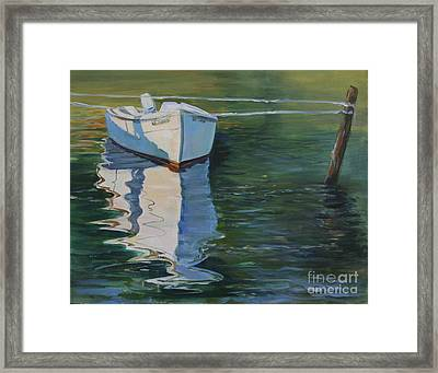 Docked On The Mobjack Bay Framed Print
