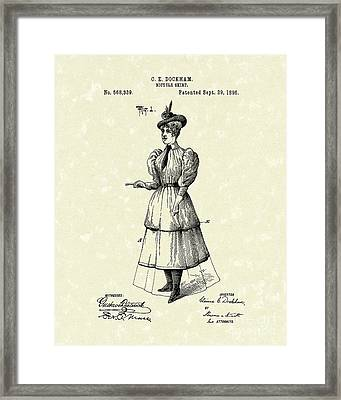 Dockham Bicycle Skirt 1896 Patent Art  Framed Print by Prior Art Design