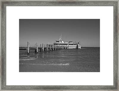 Docking For A Moment Framed Print by Betsy Knapp