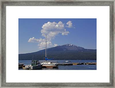 Framed Print featuring the photograph Docks At Diamond Lake by Mick Anderson
