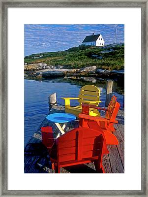 Dockside At Peggys Cove Framed Print by Dave Mills