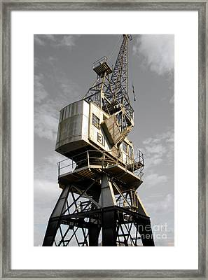 Dockside Crane 2 Framed Print by Jo