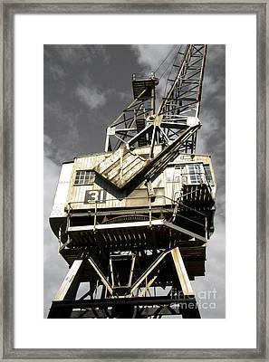 Dockside Crane Framed Print by Jo