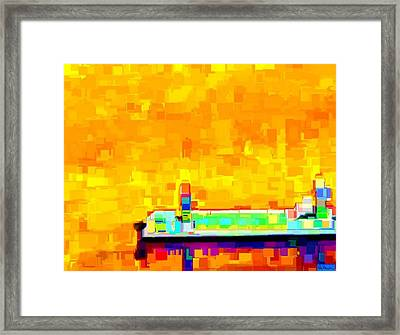 Dockside Framed Print by Paula Greenlee