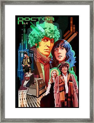 Doctor Who Number Seven Framed Print