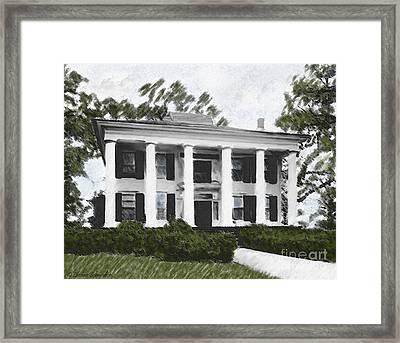 Dodd House Georgia Plantation Framed Print by Lianne Schneider