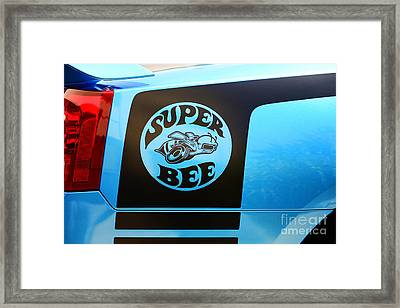 Dodge Charge Super Bee Logo  Framed Print by Paul Ward