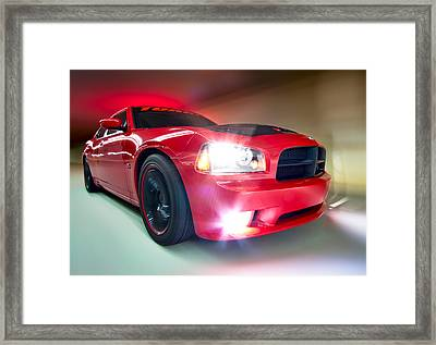 Framed Print featuring the photograph Dodge Charger by Anna Rumiantseva
