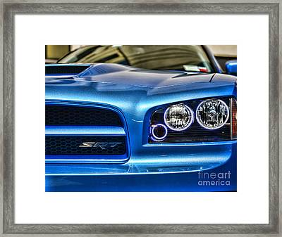 Dodge Charger Front Framed Print by Paul Ward