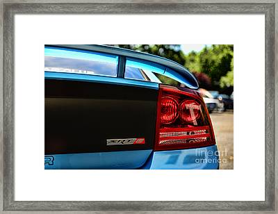 Dodge Charger Srt8 Rear Framed Print by Paul Ward