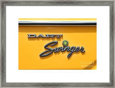 Dodge Dart Swinger . 7d15257 Framed Print