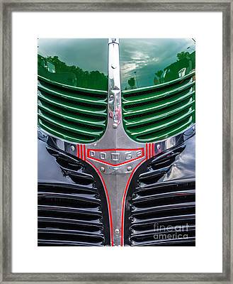 Dodge Grill Framed Print by Ursula Lawrence