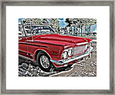 Dodge Lancer Frontal Shot Framed Print by Samuel Sheats
