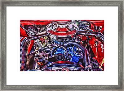 Dodge Motor Hdr Framed Print by Randy Harris
