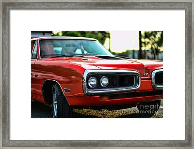 Dodge Super Bee Classic Red Framed Print by Paul Ward