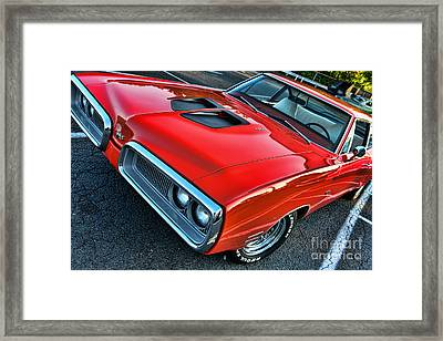 Dodge Super Bee In Red Framed Print by Paul Ward