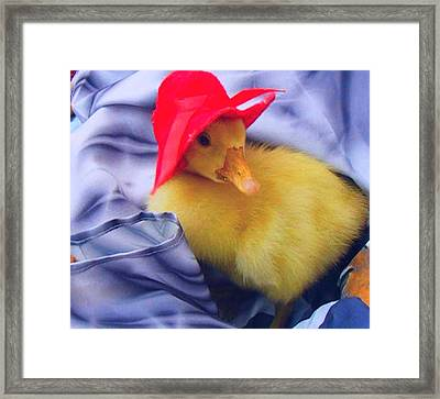 Framed Print featuring the painting Dodo With Red Hat by Bogdan Floridana Oana