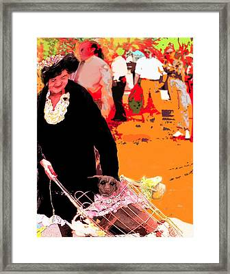Dog Lady Framed Print
