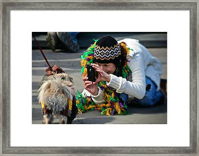 Framed Print featuring the photograph Dog Portrait  by Jim Albritton