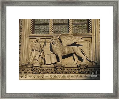 Doge And Lion. Venice Framed Print