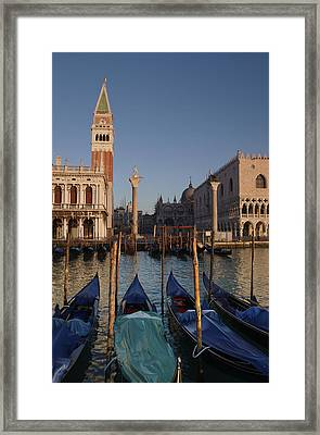 Doges Palace And San Marcos Bell Tower Framed Print by Jim Richardson
