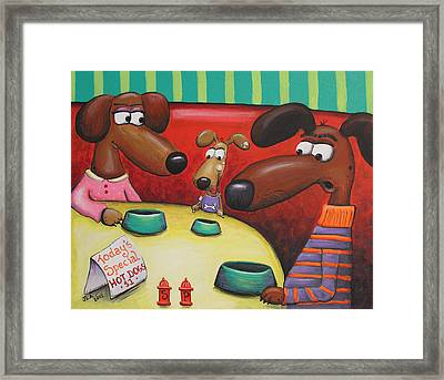 Doggie Diner Framed Print by Jennifer Alvarez