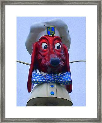 Doggie Diner Framed Print by Randall Weidner