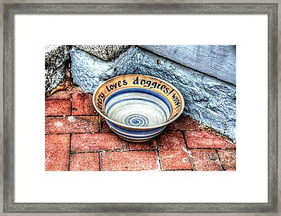 Doggie Dish Framed Print by Debbi Granruth