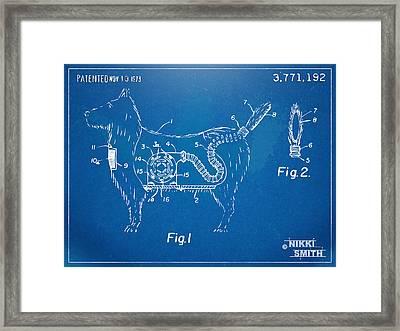 Doggie Vacuum Patent Artwork Framed Print by Nikki Marie Smith