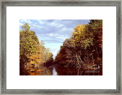 Framed Print featuring the photograph Dogleg Lake by Jack R Brock