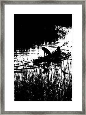 Dog's Best Friend  Framed Print by Gib LaStrapes