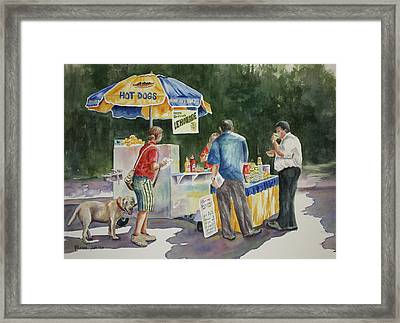 Dogs In The Park Framed Print