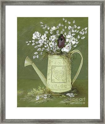Framed Print featuring the painting Dogwood Cuttings  by Nancy Patterson