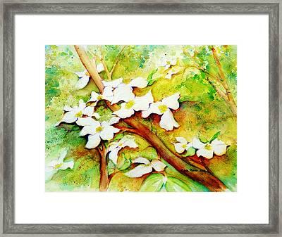 Dogwood Flowers Framed Print by Carla Parris