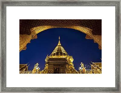 Doi Suthep Temple Framed Print by Anek Suwannaphoom