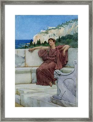 Dolce Far Niente Framed Print by Sir Lawrence Alma-Tadema