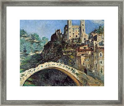 Dolceacqua Framed Print by Claude Monet