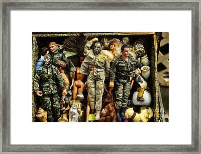 Doll - Gi Joe In Camo Framed Print by Paul Ward