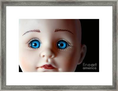 Doll Eyes Framed Print by Dan Holm