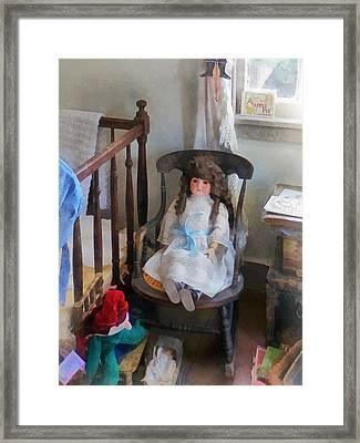 Doll In Nursery Framed Print by Susan Savad