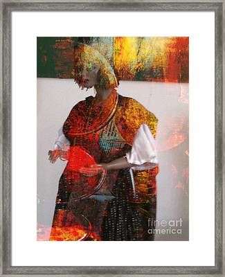 Doll In Paint Framed Print by Fania Simon