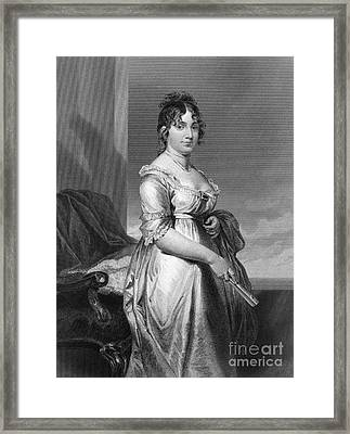 Dolley Payne Todd Madison Framed Print
