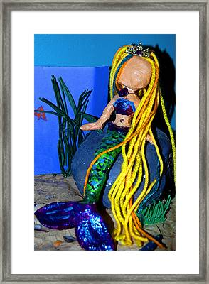 Dolly Mermaid Framed Print